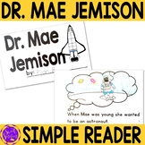 Mae Jemison Black History Simple Reading Activity