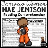 Mae Jemison Reading Comprehension Passage Famous Women Astronaut NASA