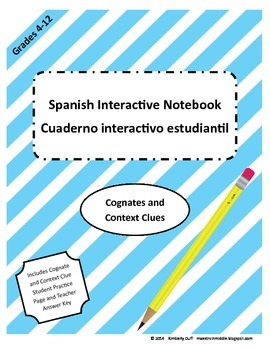 Maestra In Middle Spanish Interactive Notebook Cognates and Context Clues
