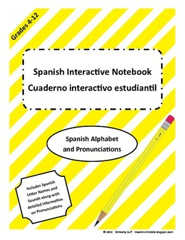 Maestra In Middle_Interactive Notebook_Spanish Alphabet and Pronunciations