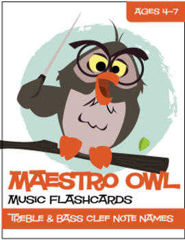 Maestro Owl™ | Music Flash Cards (Matching/Memory) Game (Digital Print)