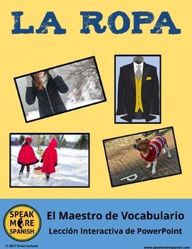 LA ROPA y el Maestro de Vocabulario. Spanish PowerPoint Games