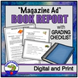 Book Report - Make a Magazine Ad Reading Assignment and Project