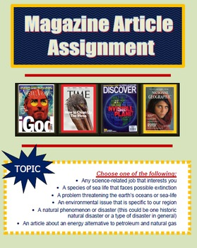 Magazine Article Assignment
