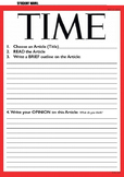 Magazine Article Review 'TIME' - By Mrs Millis