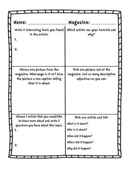 Magazine Comprehension Questions