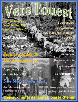 Magazine Cover Digital Provocation for Canadian History Inquiry (French)