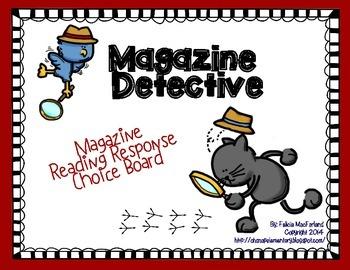 Magazine Detective Choice Board