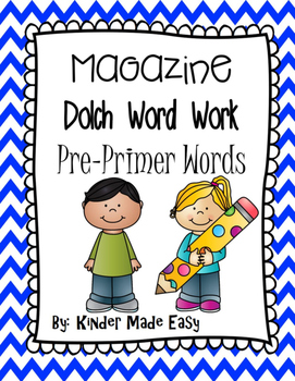 Magazine Dolch Word Activity