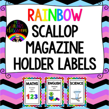 Magazine Holder Subject Labels