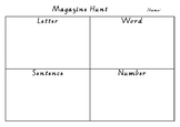 Magazine Hunt- Letter, word, number, sentence