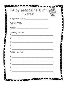 Magazine Hunt - Verbs