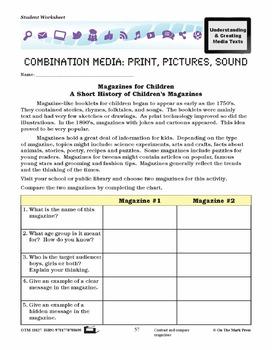 Magazine Lesson Plan Grades 4-6 - Aligned to Common Core