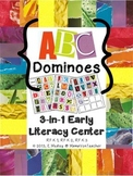 Magazine Letter Dominoes Game, 3-in-1 Literacy Center, Alphabet Game
