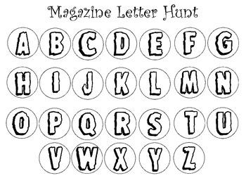 Magazine Letter Hunt
