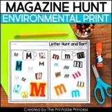 Magazine Letter Hunt | An Environmental Print Activity