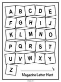 Magazine Letter Hunt Worksheets, Literacy Center