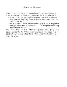 Magazine Letter Hunts