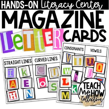 Magazine Letter Sort A-Z for Letter & Word Work, Literacy