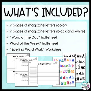 Magazine Letters for Word Work