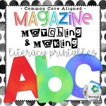 Magazine Matching and Making Literacy Printables