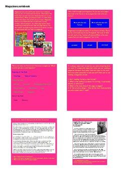 Magazine Text Structure SMART NOTEBOOK Activities