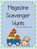 Magazine Scavenger Hunts - Kindergarten Literacy Activity