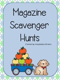 Magazine Scavenger Hunts - Kindergarten Literacy Activity