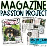 Magazine Template   Cumulative Writing Passion Project