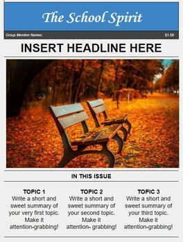 Magazine Template for Google Docs by Luke Gunkel | TpT