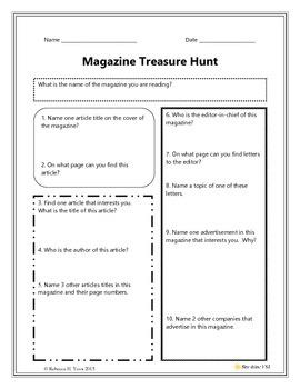 Magazine Treasure Hunt