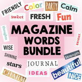 Magazine Words and Letter Cutouts BUNDLE