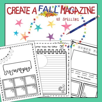 Class Magazine Writing Fall Edition No Prep US