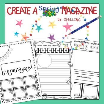Class Magazine Writing Spring Edition No Prep AUS
