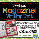 3 Genres Magazine Writing Activity ~ Narrative, Informational & Opinion Writing