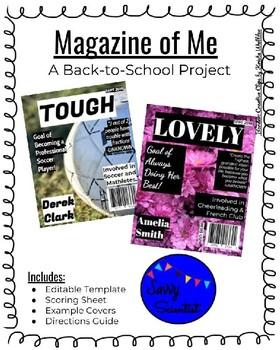 Magazine of Me- Back to School Activity