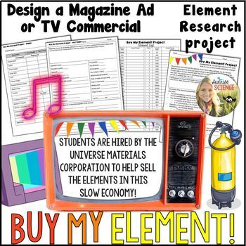 Chemical Element Advertisement Project : Magazine or TV Commercial