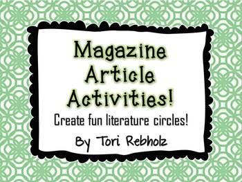 Magazine/Newspaper Article Activities
