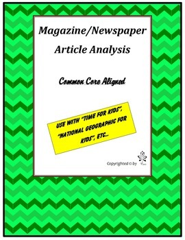 Magazine/Newspaper Article Analysis