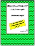 Magazine/Newspaper Article Analysis