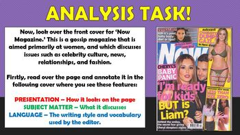Magazines - Genre and Audience! (Magazine Front Covers)