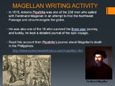 Magellan in the Philippines Questions and Journal