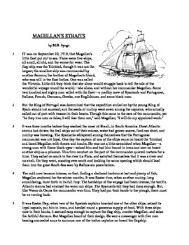Magellan's Strait - Informational Text Test Prep