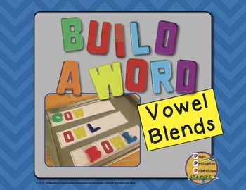 Magenetic Letters Print and Go {Vowel Pairs}