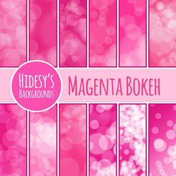 Magenta Bokeh / Glowy Lights Backgrounds / Digital Paper Clip Art