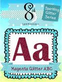 Magenta Glitter ABC Clip Art