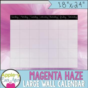 "Magenta Haze - Large Blank Wall Calendar! 18""x24"""