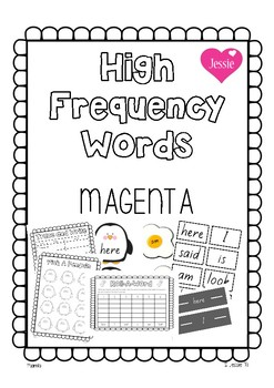 Magenta High Frequency Sight Words Pack