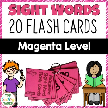 Magenta Level High Frequency Sight Word Flash Cards for Year One NZ