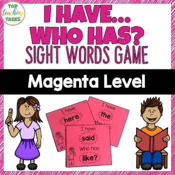 New Zealand Sight Words Magenta Level Game I Have, Who Has?